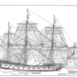 4th Rate Ship HMS Mordaunt 1681 ship model plans