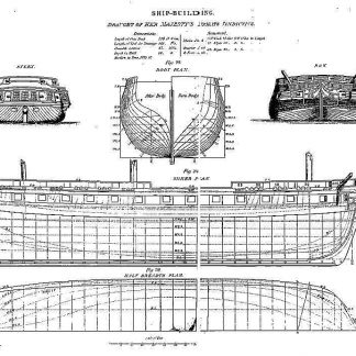 6th Rate Frigate HMS Vindictive ship model plans
