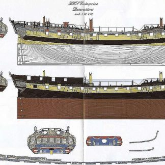 6th Rate Ship HMS Enterprize 1705 ship model plans
