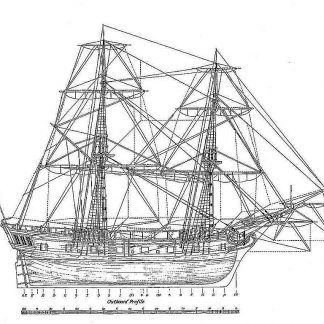 6th Rate Ship Snow HMS Ontario 1780 ship model plans