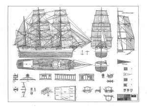Barque Albert Neumann Xixc ship model plans