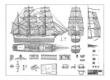 Barque Albert Neumann Xixc ship model plans