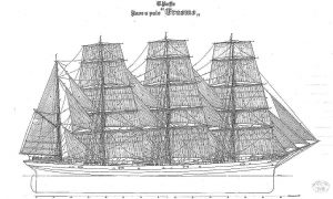 Barque Erasmo 1903 ship model plans