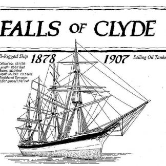Barque Falls Of Clyde 1878 ship model plans