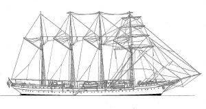 Barque J S De Elcano 1964 ship model plans