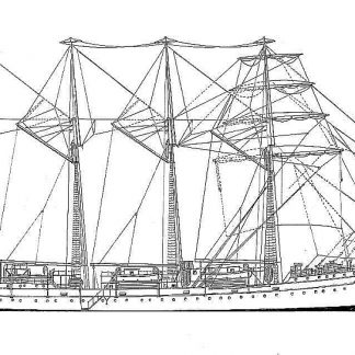 Barque J S De Elcano 1964 ship model plans