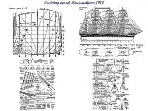 Barque Kruzenshtern (Padua) 1926 ship model plans