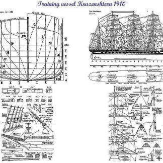 Barque Kruzenshtern (Padua) 1926 ship model plans