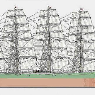Barque Peter Rickmers 1889 ship model plans
