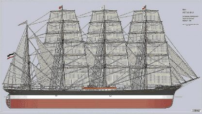 Barque Petschili 1903 ship model plans