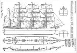 Barque Pommern 1906 ship model plans
