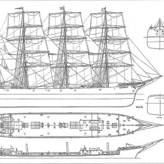 Barque Pommern 1906 ship model plans