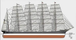 Barque Potosi 1895 ship model plans