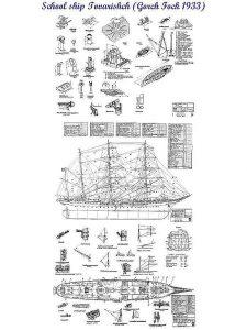 Barque Tovarisch 1933 ship model plans