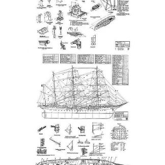Barque Tovarisch 1933 ship model plans