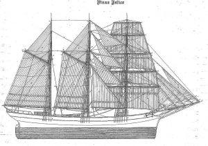 Barquentine Fidente ship model plans