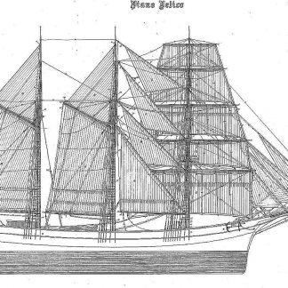 Barquentine Fidente ship model plans