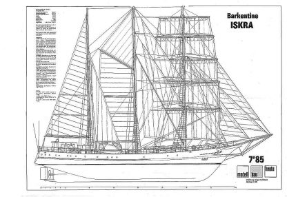 Barquentine Orp Iskra 1982 ship model plans