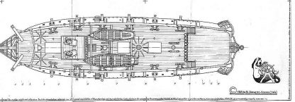 Bomb Ketch Cacafuego 1700 ship model plans