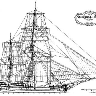 Bomb Ketch (Dutch) Amsterdam 1800 ship model plans