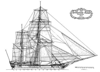 Bomb Ketch (Dutch) Amsterdam 1800 ship model plans