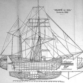 Bomb Ketch Volonte De Dieu 1816 ship model plans