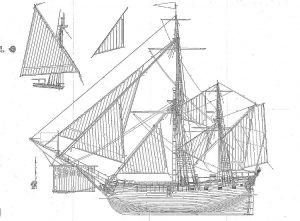 Bombardier HMS Salamander 1687 ship model plans