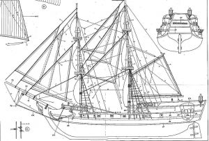 Brig Black Falcon XVIIc ship model plans