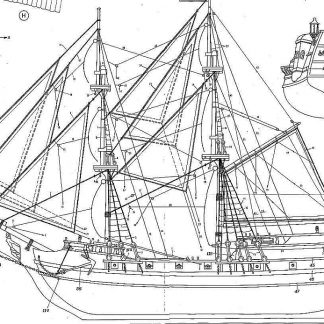 Brig Black Falcon XVIIc ship model plans