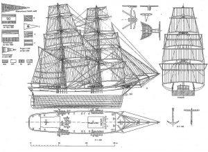 Brig C C Michels ship model plans