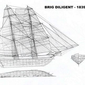 Brig Diligent 1839 ship model plans