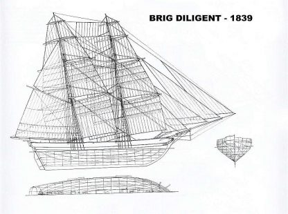 Brig Diligent 1839 ship model plans