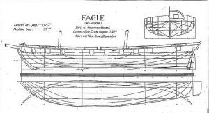 Brig Eagle 1814 ship model plans