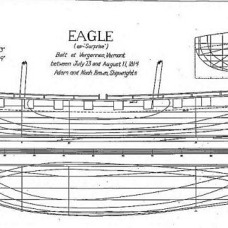 Brig Eagle 1814 ship model plans