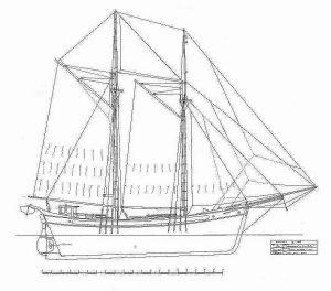 Brig Far Barcelona ship model plans