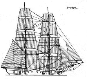 Brig Fenix 1714 ship model plans
