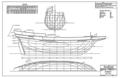 Brig Godspeed 1606 ship model plans