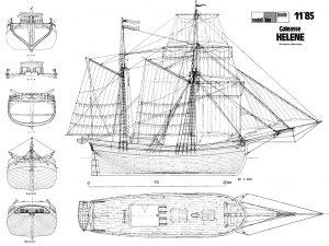 Brig Helene 1828 ship model plans