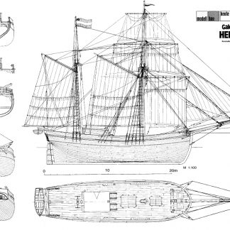 Brig Helene 1828 ship model plans