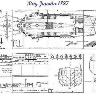 Brig Junaita 1827 ship model plans