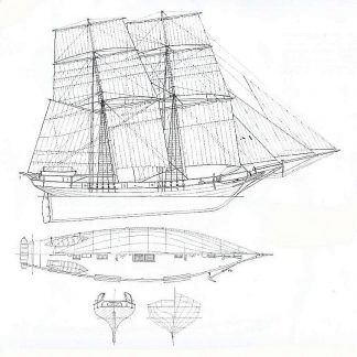 Brig Le Ouragan 1830 ship model plans
