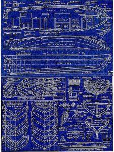 Brig Malek Adhel ship model plans