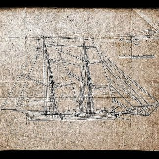 Brig Oneida 1809 ship model plans