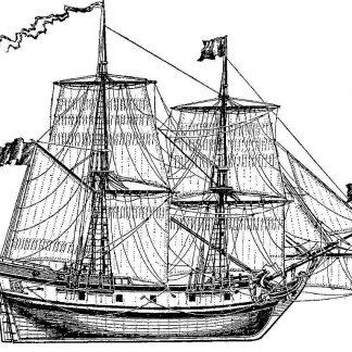 Brig St Peter 1741 ship model plans
