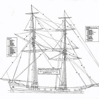 Brig Uss Lexington 1777 ship model plans