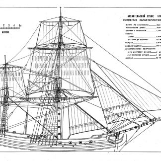 Brigantine Archangelskij Gukor 1736 ship model plans