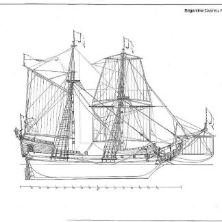 Brigantine Castell Friedrichsburg 1688 ship model plans