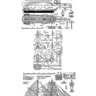 Brigantine Freighter Baikal 1848 ship model plans