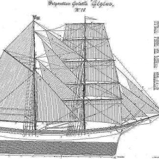 Brigantine Gigina ship model plans