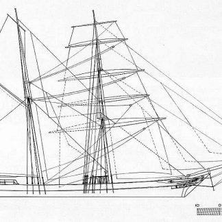 Brigantine Juan De La Vega 1871 ship model plans